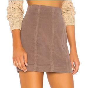 NWT FP Modern Femme Cord Mini Skirt